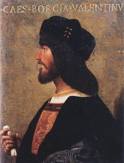 Portrait de Cesare Borgia, duc de Valentinois.