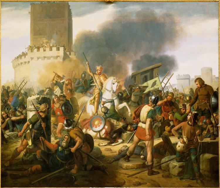 Jean Victor Schnetz, Le comte Eudes défend Paris ocntre les Normands en 886, RMN