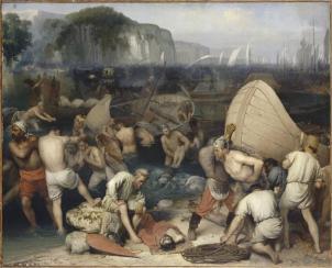 Le débarquement de l'armée des barbares Anonyme français