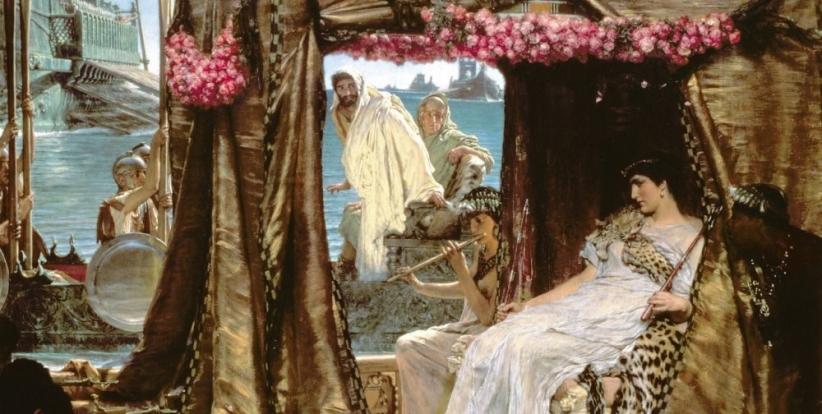 La Rencontre d'Antoine et Cléopâtre (1883), de Lawrence Alma-Tadema