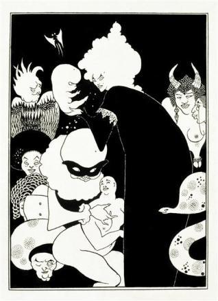 Série de deux planches. Illustration de L'Histoire véritable de Lucien de Samosate.