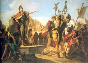 Giovanni Battista Tiepolo, La reine Zénobie harangant ses soldats