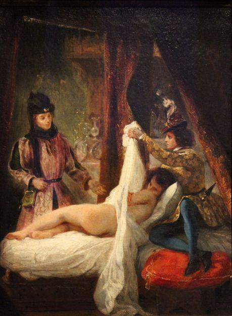 Eugène Delacroix, Louis d'orléans montrant sa maîtresse, 1825-1826, Muséo Thyssen-Bornemisza, Madrid.JPG
