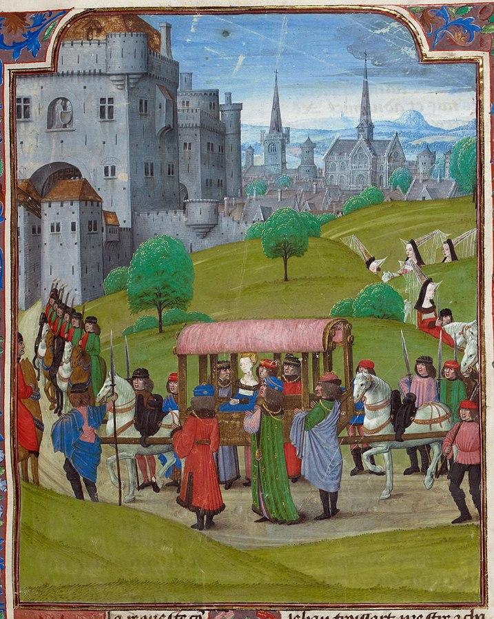 Froissart, Entrée d'Isabeau, manuscrit done before 1483