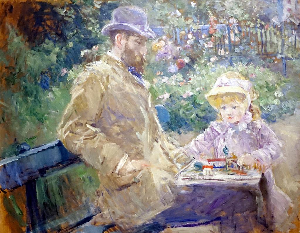 Morisot Article Eugène Manet et sa fille, 1881.jpg