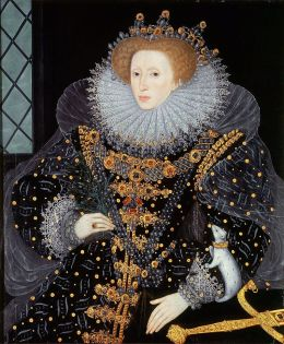 Portrait de la reine Élisabeth par Segar, 1585.